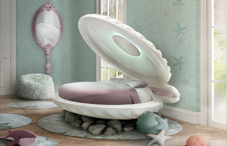 disney inspired bedroom The best ideas to a Disney inspired bedroom mermaid bed ambience circu magical furniture 01
