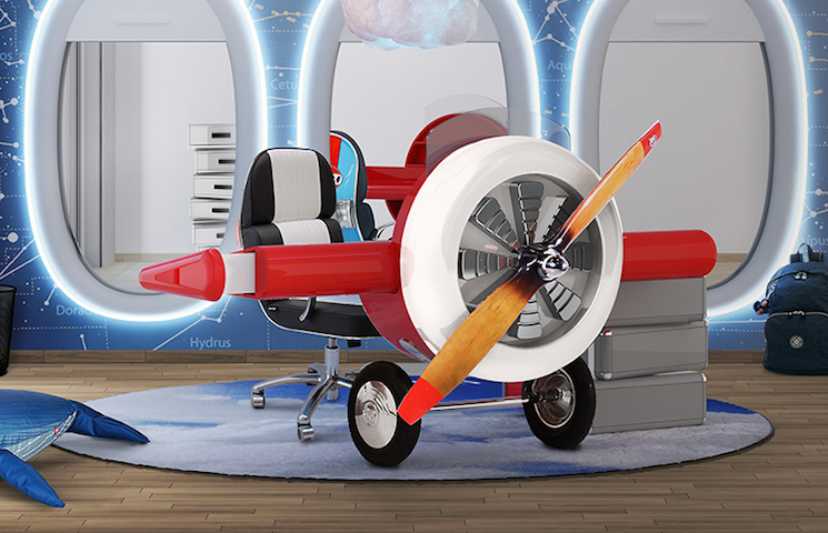 circu How To Create An Airplane Inspired Bedroom Design sky desk ambience circu magical furniture 01